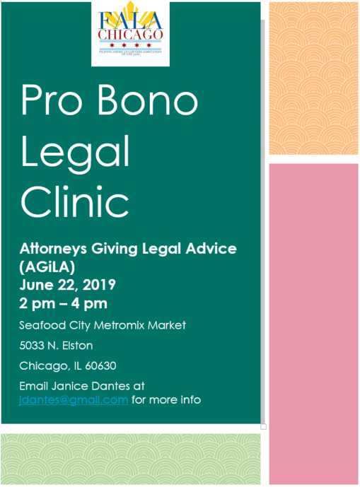 AGiLA Pro Bono Legal Clinic - June 2019