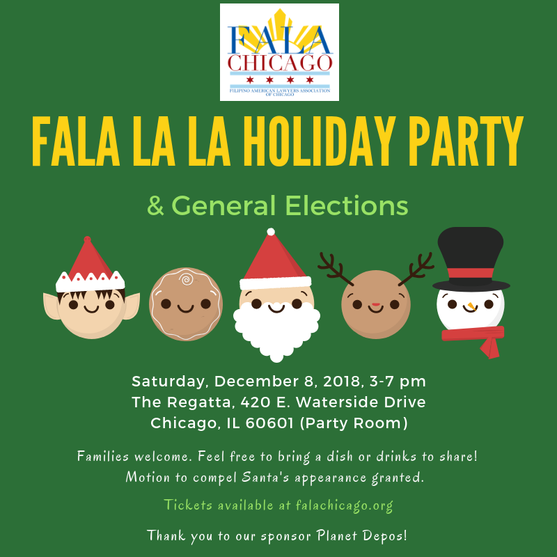 2018 Holiday Party & General Elections
