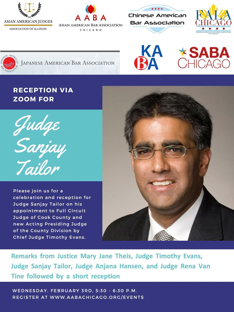 Reception for Judge Sanjay Tailor