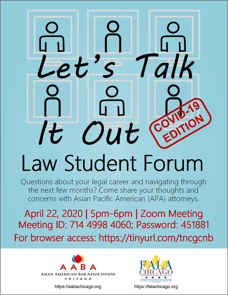 Let's Talk It Out Law Student Forum
