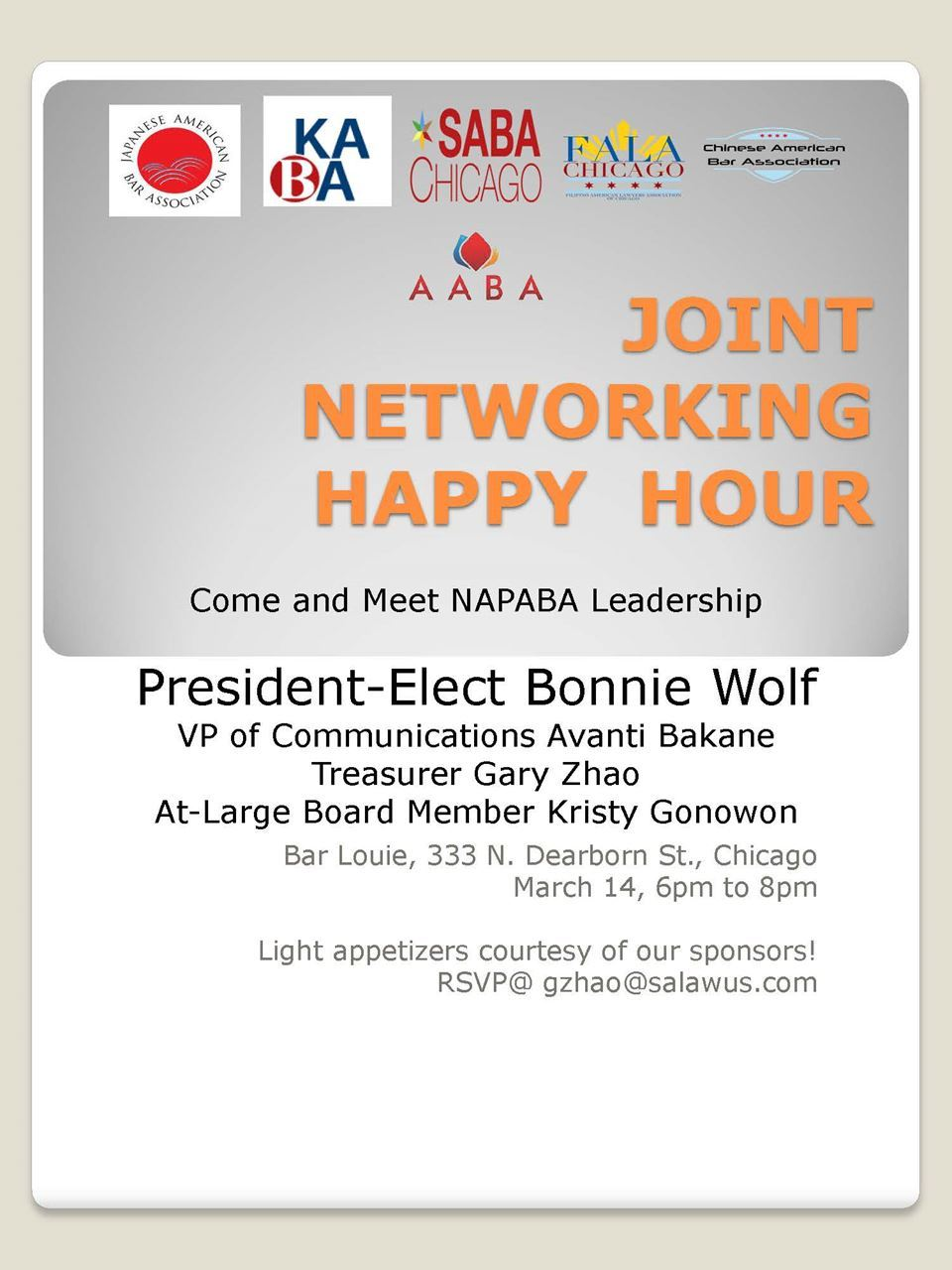 Joint Networking Happy Hour with NAPABA Leaders